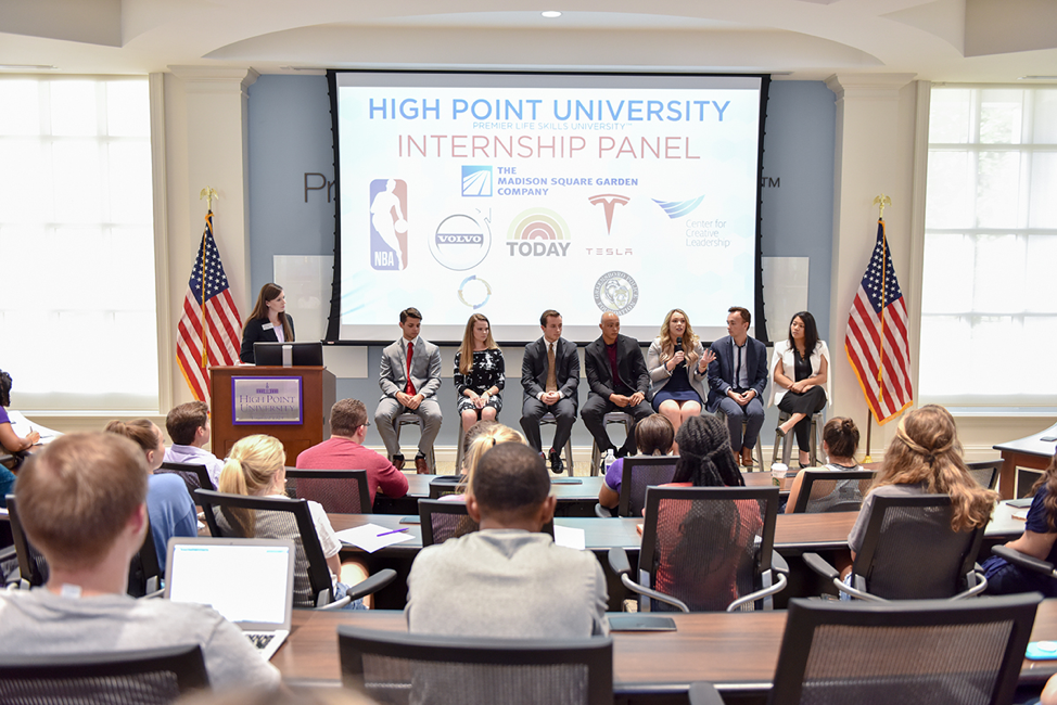 High Point University Internship Panel